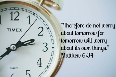 do not worry about tomorrow