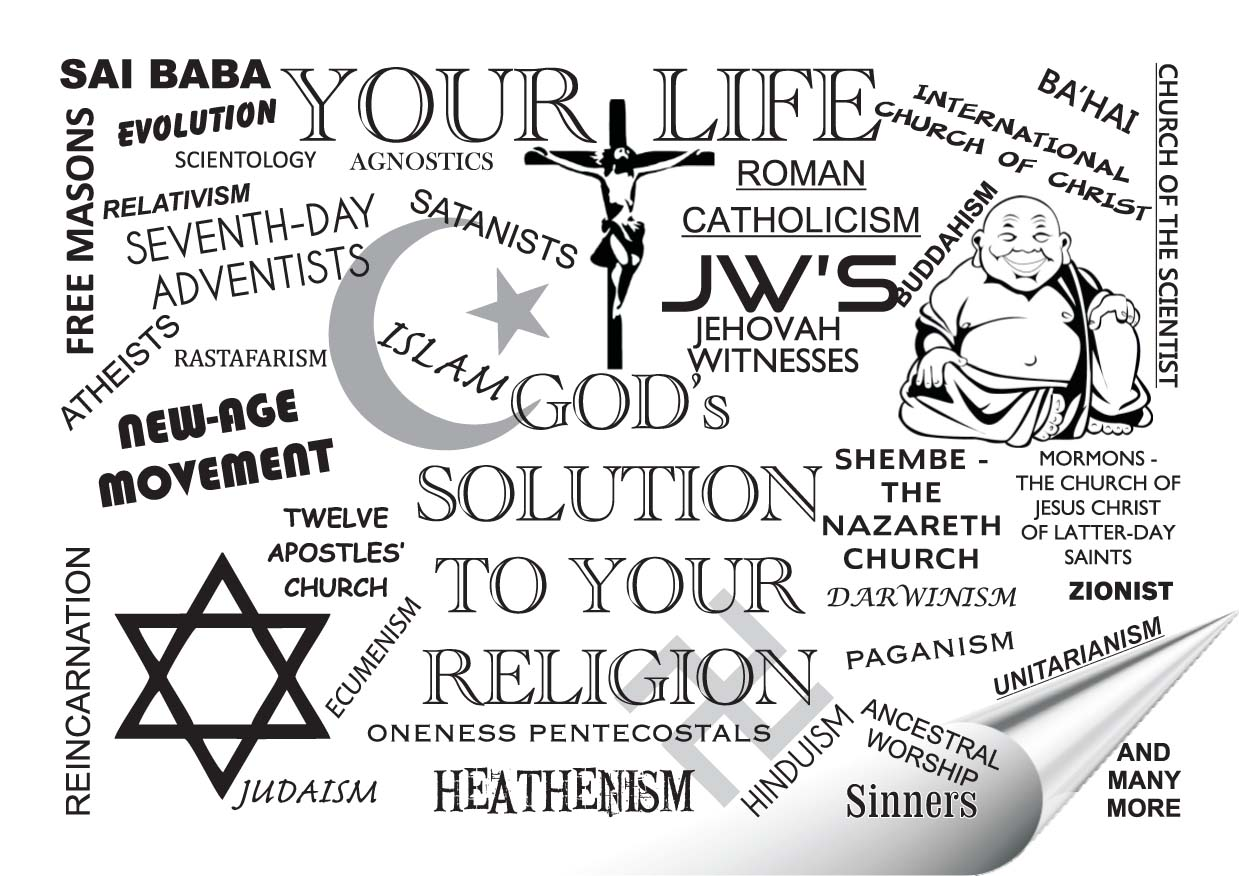 Your Life ~ God's Solution to Your Religion Gospel Tract