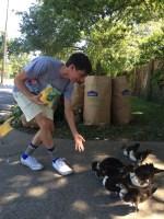feeding the ducks with Michael T