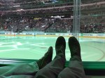 Stars game from the first row was cool