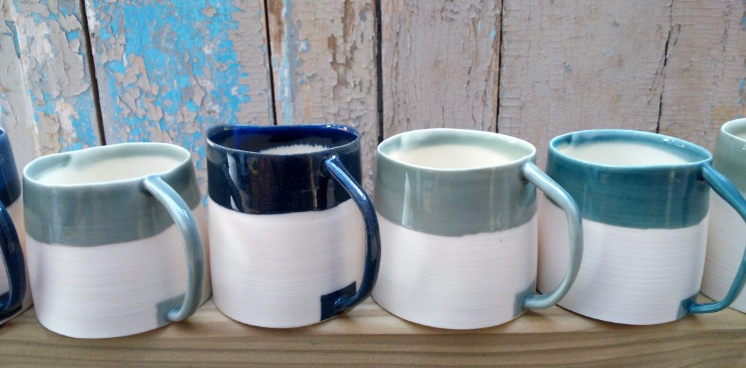 porcelain espresso cups with uneven edges