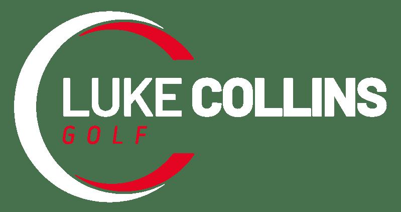 full size luke collins logo white on red