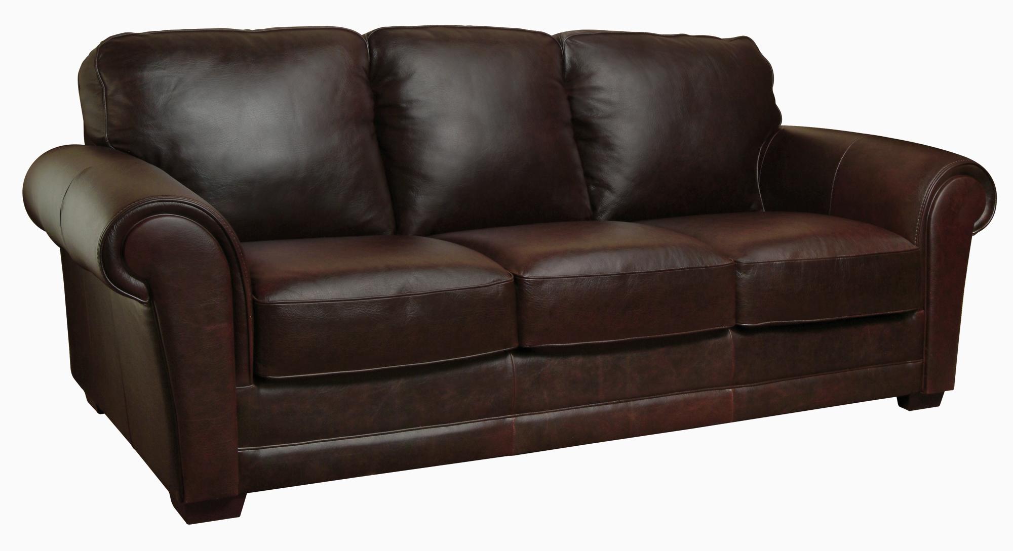 New Luke Leather Mark Italian Leather Distressed Chocolate Brown Sofa Only  eBay