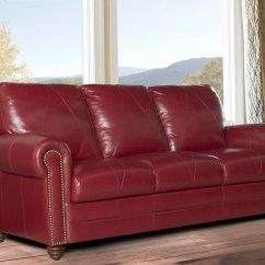 Red Leather Sofa Sets On Sale Microfiber Vs Bonded New Luke Quotweston Quot Cherry 3 Piece Set