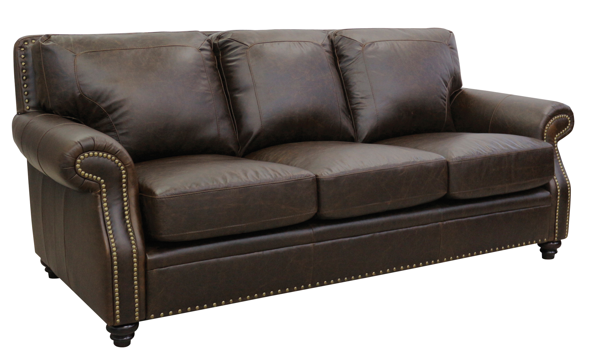 vine brown leather sofa ebay minnie mouse toddler bean bag chair new luke furniture italian made quotmason quot chocolate
