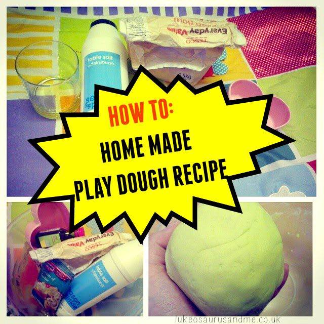 How to: Home made play dough recipe, no cook! Perfect for home or eyfs childcare settings From lukeosaurusandme.co.uk