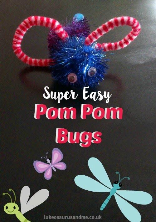 Easy, Quick Toddler Craft: Pom Pom Bugs