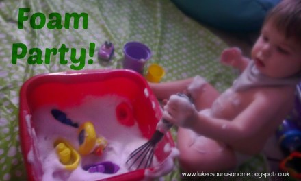 Sensory Play: Ain't No Party Like A Toddler Foam Party