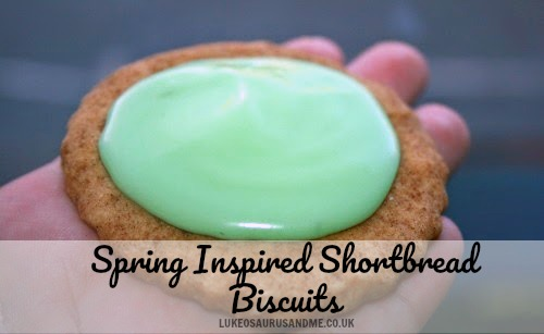 Recipe: Spring Inspired Shortbread Biscuits at https://lukeosaurusandme.co.uk