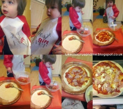 The Tickle Fingers Cookbook by Annabel Woolmer, Tortilla Pizzas from Fight Against The Fuss!! from lukeosaurusandme.co.uk