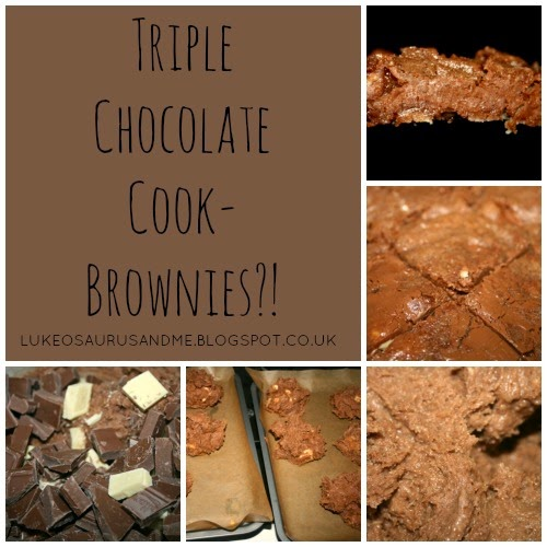 Triple Chocolate Cookie Brownies from lukeosaurusandme.co.uk
