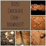 Triple Chocolate Cookie Brownies from lukeosaurusandme.co.uk