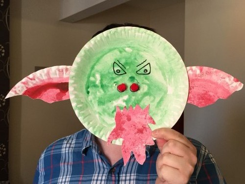 Paper Plate Dragon Craft