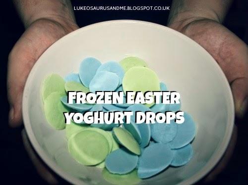 Easter Activities For Toddlers. Frozen Easter Yoghurt Drops from lukeosaurusandme.co.uk