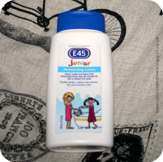 E45 Junior Moisturising Lotion from March Favourites at lukeosaurusandme.co.uk