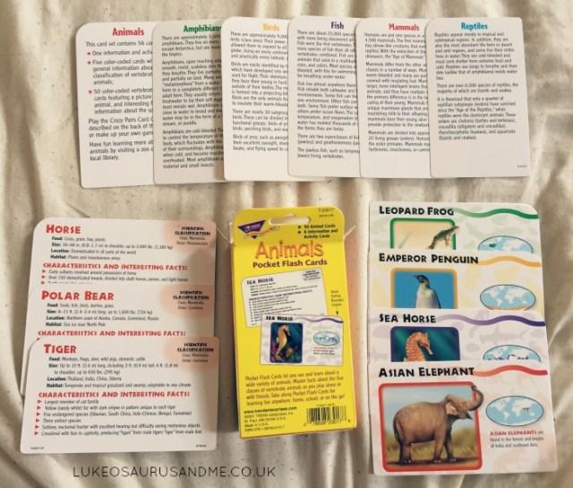 Animal Flashcard Review from lukeosaurusandme.co.uk