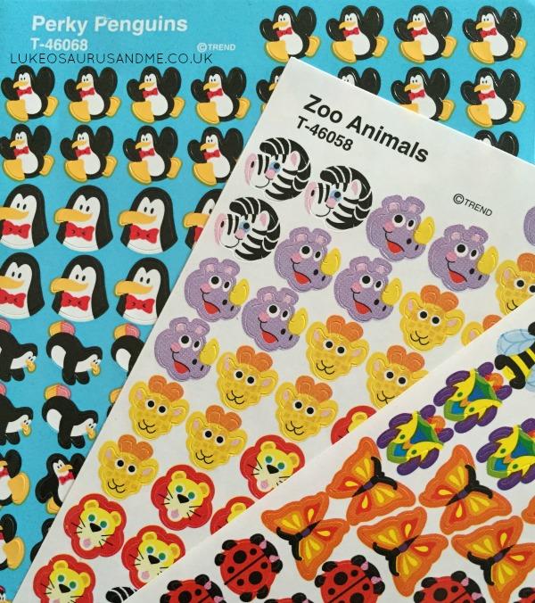 Penguins, Zoo Animals and Bugs sticker review from lukeosaurusandme.co.uk