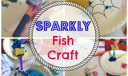 Sparkly Fish Craft (Paper Plate)