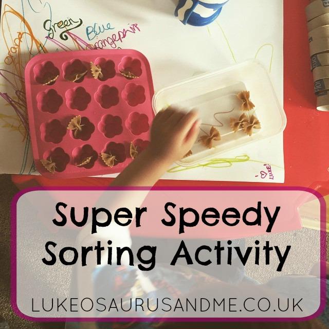 Sorting Activity For Toddlers from lukeosaurusandme.co.uk