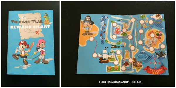 Treasure Trail Pirate Reward Chart for Kids from lukeosaurusandme.co.uk