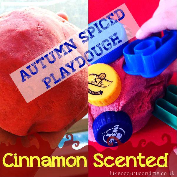 Cinnamon Scented Autumn Playdough by lukeosaurusandme.co.uk