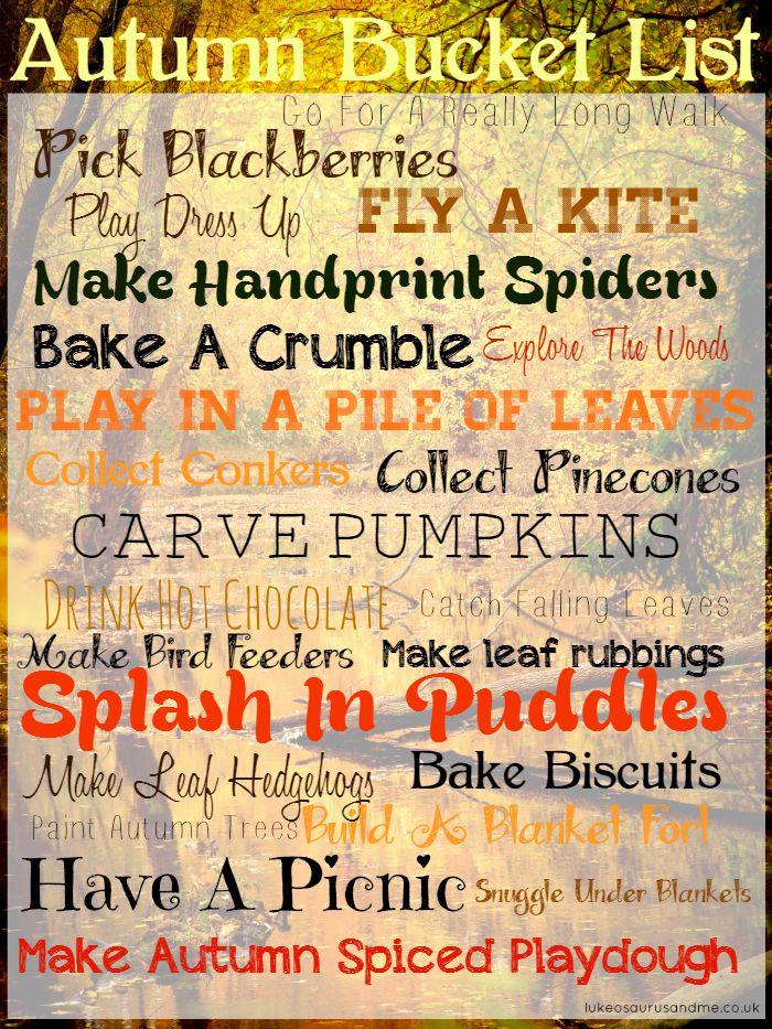 Autumn Bucket List by lukeosaurusandme.co.uk