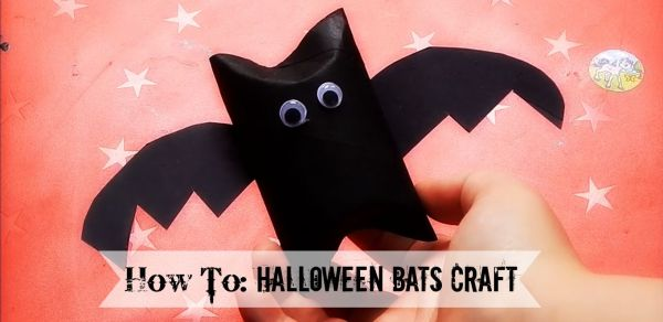 How To Halloween Bats Craft for Kids from http://lukeosaurusandme.co.uk