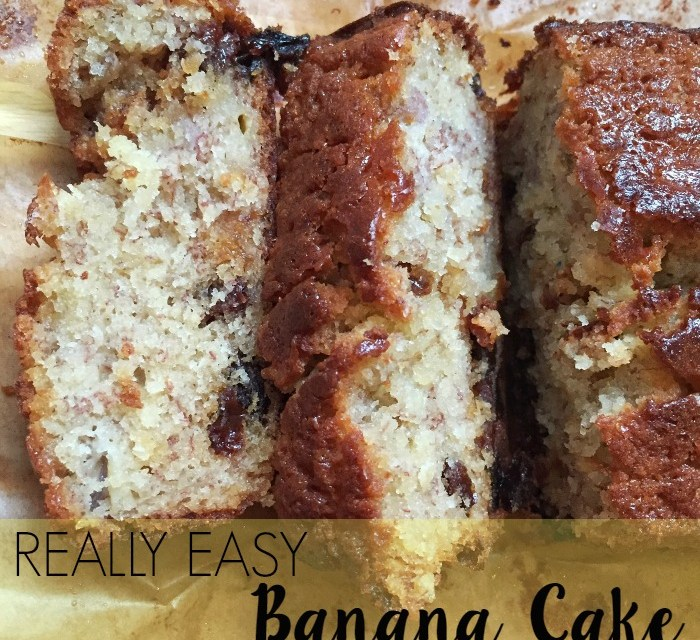 Really Easy Banana Cake Recipe