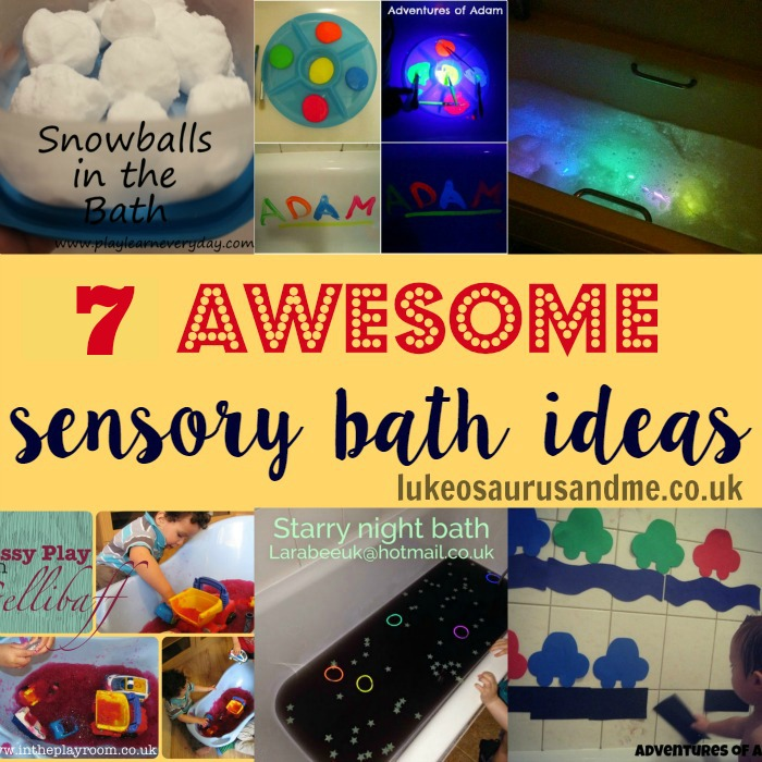 Sensory Bath Ideas at lukeosaurusandme.co.uk @gloryiscalling #sensloryplay #pbloggers #sensorybath