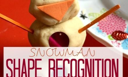 Snowman Shape Recognition Play Dough