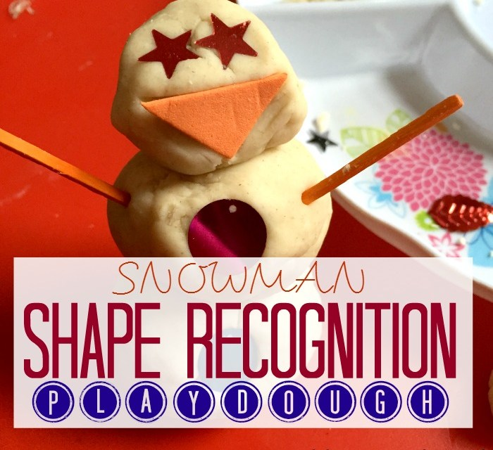 Snowman Shape Recognition Play Dough