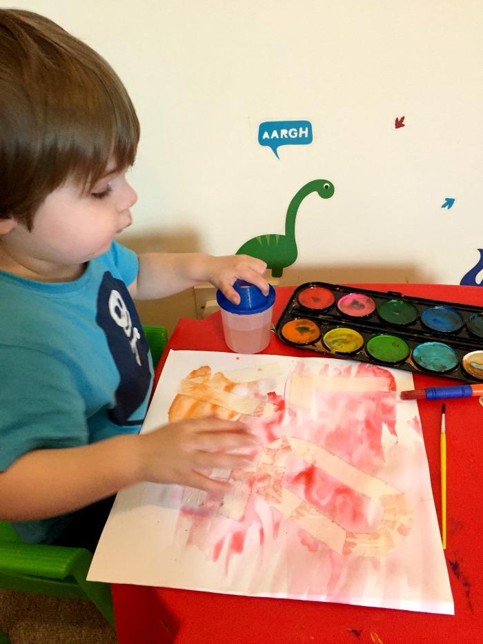 Toddler's Watercolour LOVE gift at https://lukeosaurusandme.co.uk @gloryiscalling