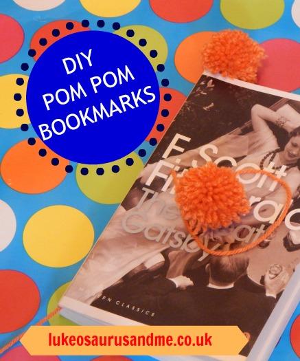 DIY Pom Pom Bookmarks at http://lukeosaurusandme.co.uk @gloryiscalling