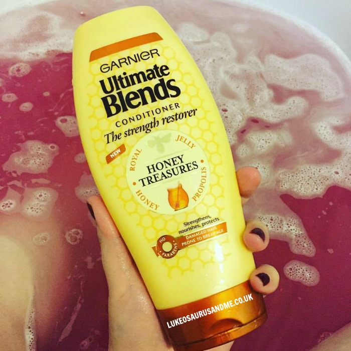 Garnier Ultimate Blends Honey Treatment Conditioner review at http://lukeosaurusandme.co.uk