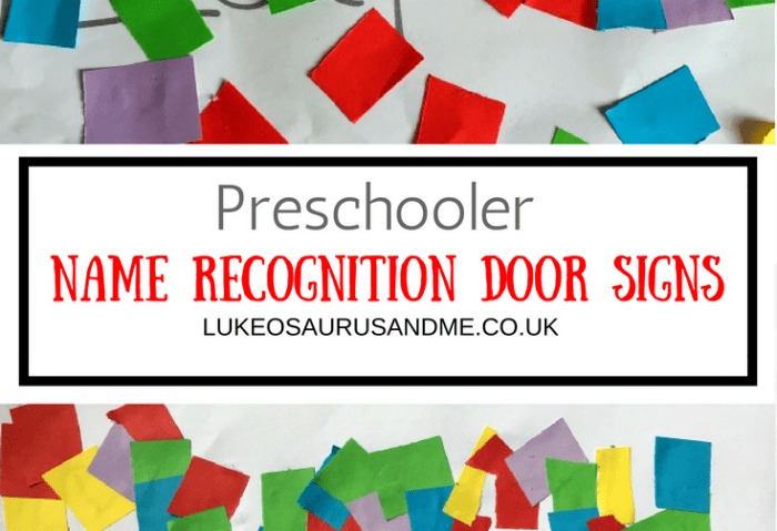 Preschooler Name Recognition Door Sign
