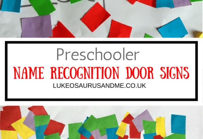 Preschooler Name Recognition Door Sign