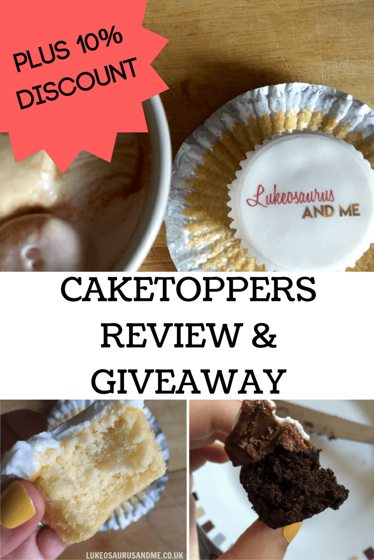 Personalised cake and cupcakes. Caketoppers review and giveaway at https://lukeosaurusandme.co.uk