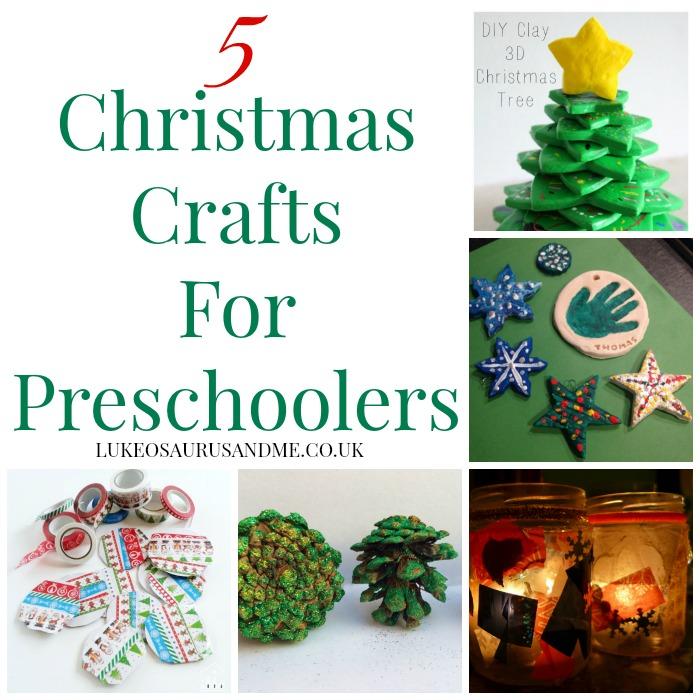 5 Christmas Crafts for preschoolers at https://lukeosaurusandme.co.uk