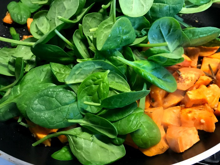 Vegetarian Feta Cheese, Sweet Potato and Spinach Pie at http://lukeosaurusandme plus food budgeting tips