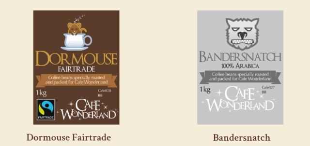 Cafe Wonderland Tea and Coffee Range from Mad Hatter Tea, UK Tea and Coffee at http;//lukeosaurusandme.co.uk