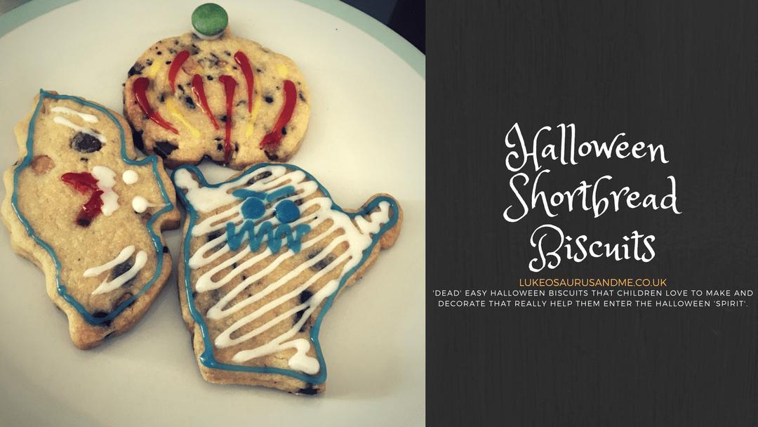 Halloween Shortbread Biscuit Recipe for kids at https://lukeosaurusandme.co.uk