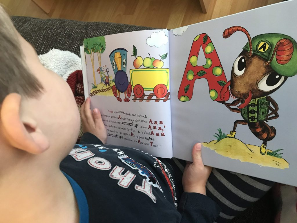 Find My Name In The Alphabet Train personalised book review and giveaway at http://lukeosaurusandme.co.uk