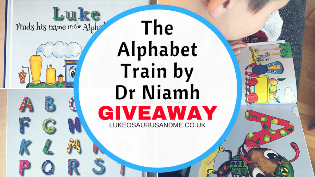 Find My Name In The Alphabet Train personalised book review and giveaway at https://lukeosaurusandme.co.uk