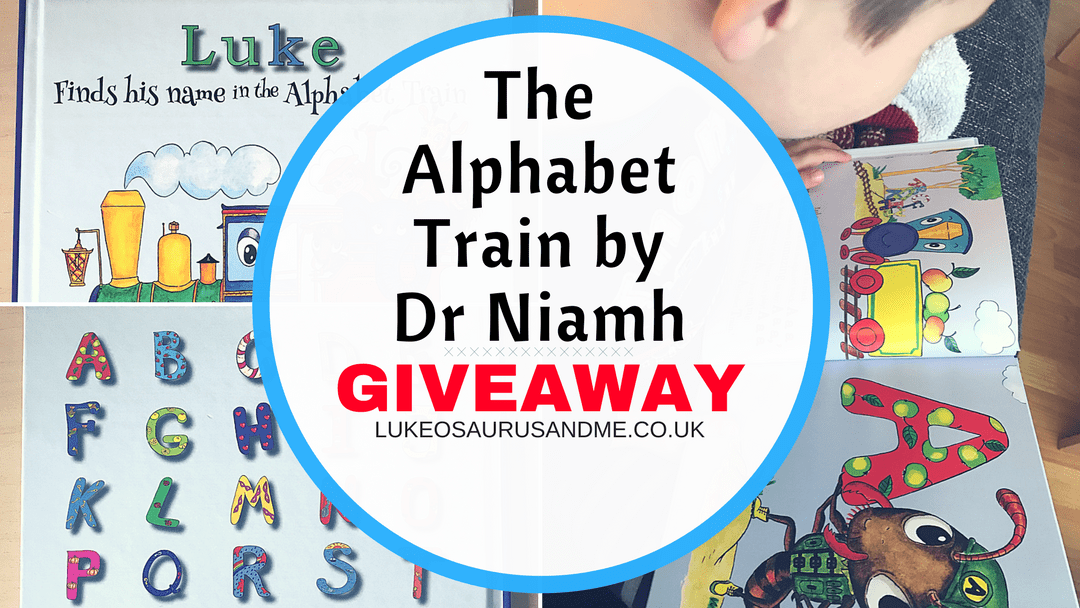 The Alphabet Train personalised book review and giveaway at https://lukeosaurusandme.co.uk