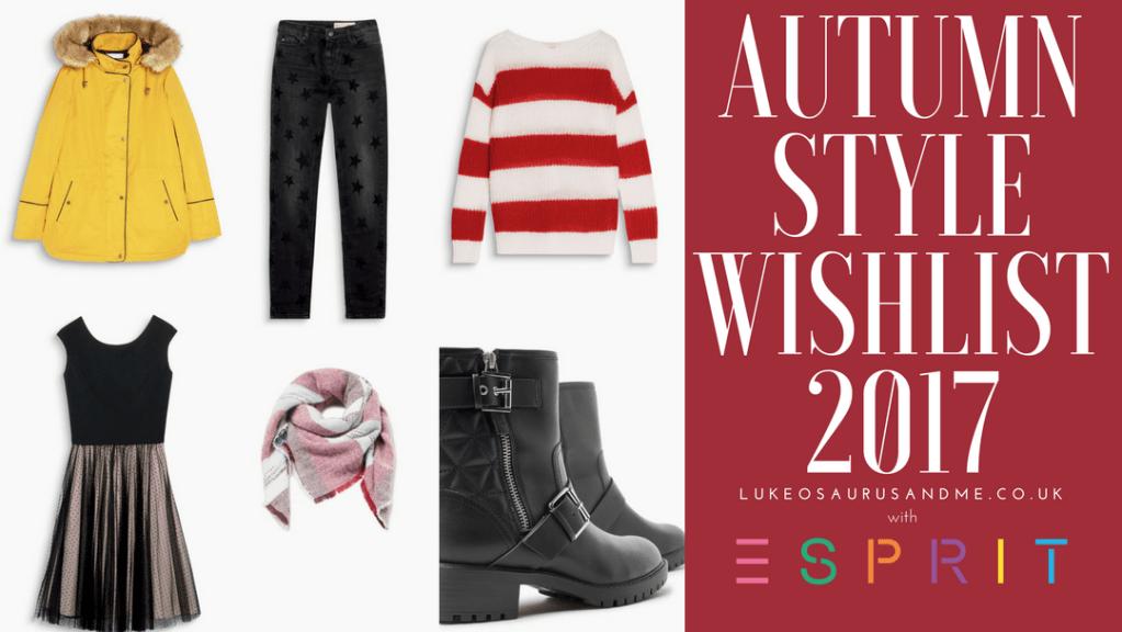 Autumn fashion 2017 sorted with Espirit at http://lukeosaurusandme.co.uk