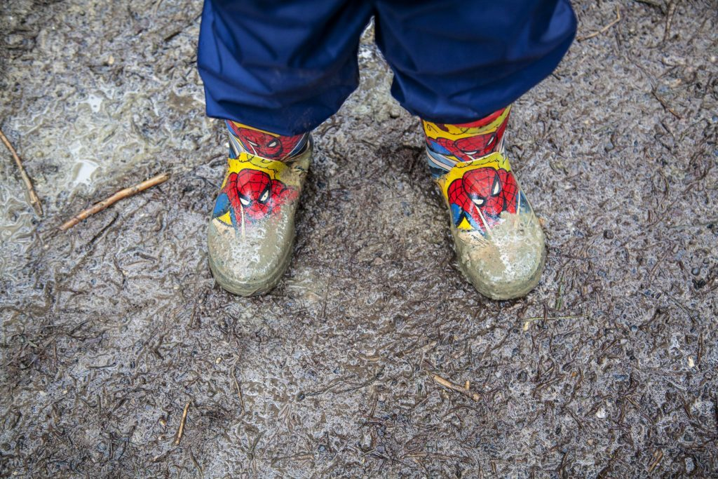 Jumping in muddly puddles and searching for The Highway Rat in our Spider-man wellies at Alice Holt, Farnham. For more, head to http://lukeosaurusandme.co.uk