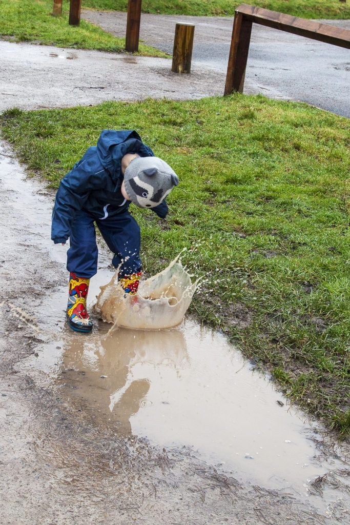 Jumping in muddle puddles at the Forestry Commission's Alice Holt, Farnham. For more on our day out, head to http://lukeosaurusandme.co.uk