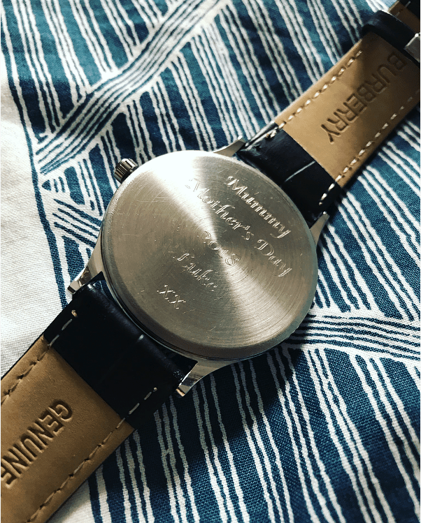 Personalised engraved women's watches and other great Mother's Day gifts from Gifts Online 4 U - see full Mother's Day gift guide at https://lukeosaurusandme.co.uk