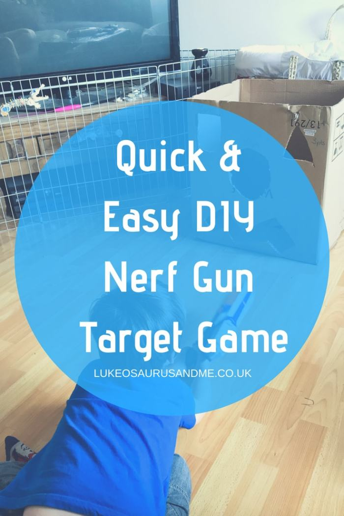 Quick and Easy DIY Nerf Gun Target Game For Kids at https://lukeosaurusandme.co.uk
