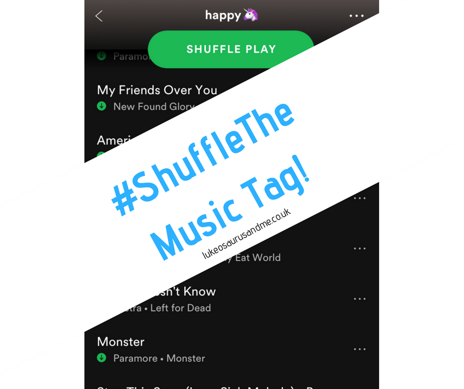 #ShuffleTheMusic Tag - shuffle your playlist and write about the first 15 songs that come one!